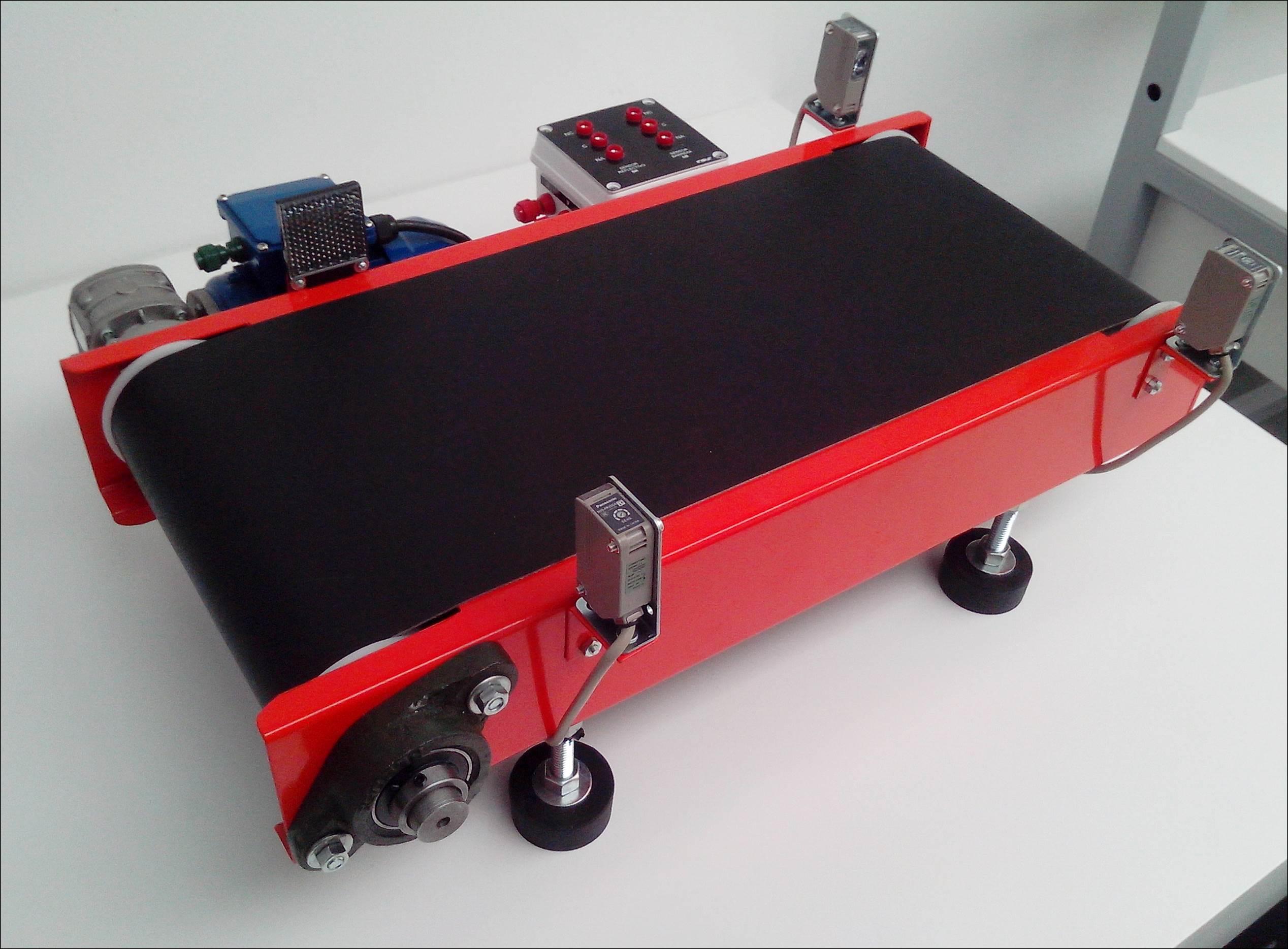 Mini Cinta Transportadora Trifasica Con Sensores